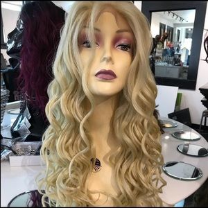 Accessories - Fulllace Blonde Wig Romance Curl New Wig 2019 Styl